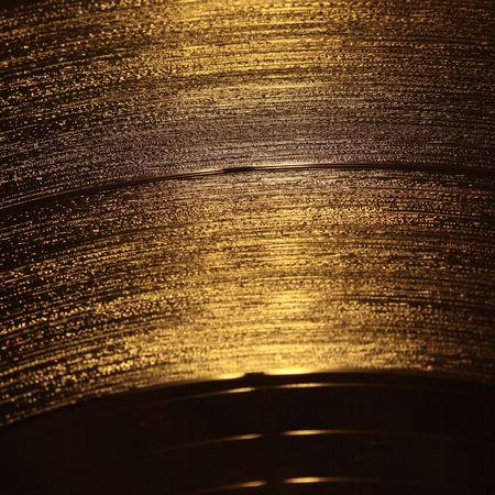 old macro: primer de oro disco de vinilo