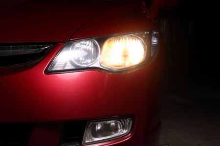 detail of a red sportscar Stock Photo - 4903788