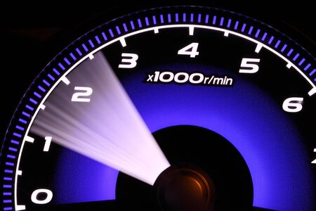 dash: illuminated speedometer Stock Photo