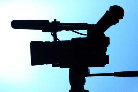 silhouette of full HD camcorder photo