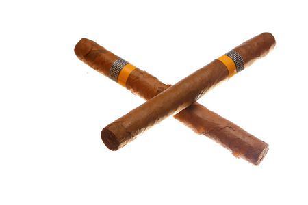 havana cigars isolated on white Stock Photo - 4903888