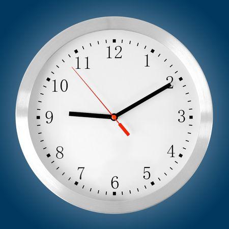 classic clock on blue photo