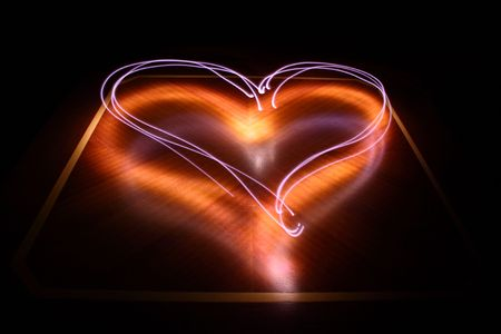 illuminated heart sign Stock Photo - 4903819