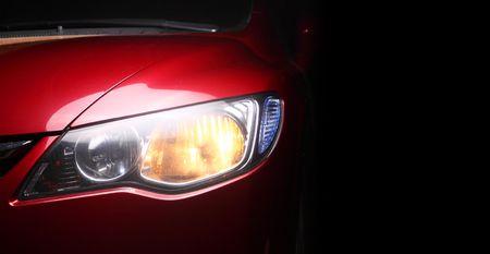 sportscar: detail of a red sportscar