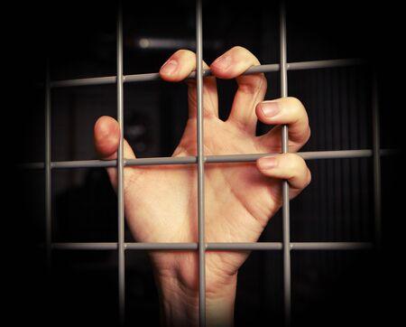 preso: restricci�n de la libertad Foto de archivo
