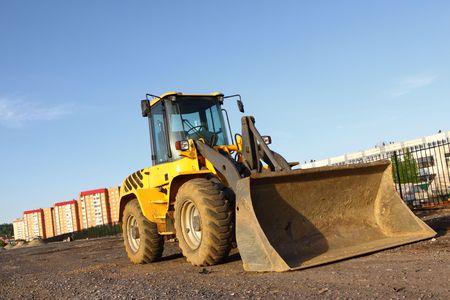 the heavy building bulldozer photo