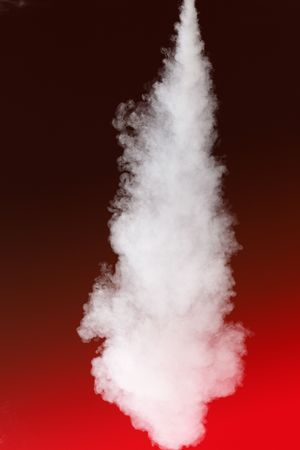 steam jet: thick stream of fog Stock Photo