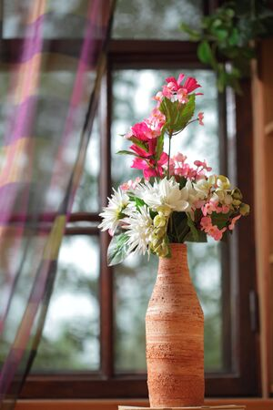 flower in the vase photo