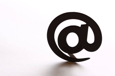 electronically: email sign on white