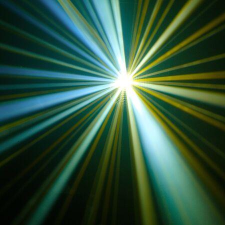 miror: Disco ball with rays in haze