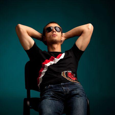 cool guy wearing sunglasses Stock Photo - 5191322