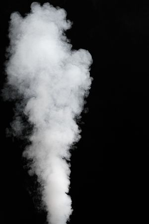 steam jet: thick stream of fog Stock Photo