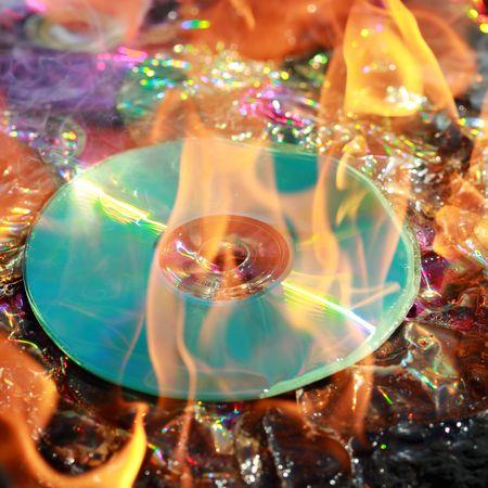 burning dvd Stock Photo - 5234115