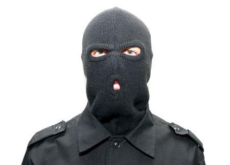 an burglar wearing a ski mask (balaclava) Stock Photo - 5234262