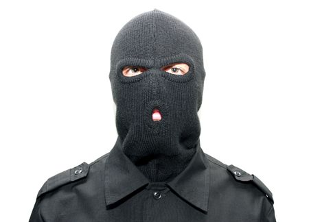 stealer: an burglar wearing a ski mask (balaclava)