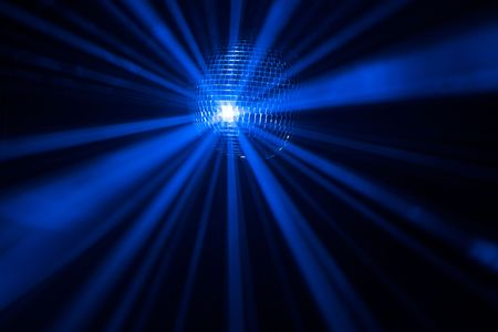 miror: Disco ball with rays in haze