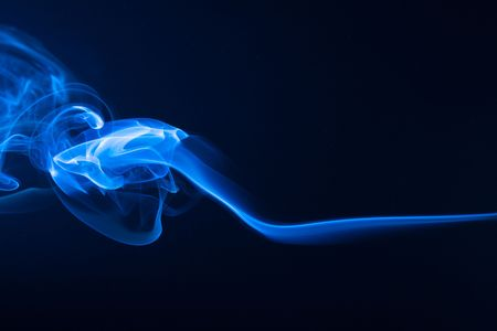blue flames: abstract smoke Stock Photo