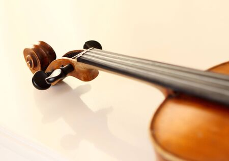 part of an antique violin photo