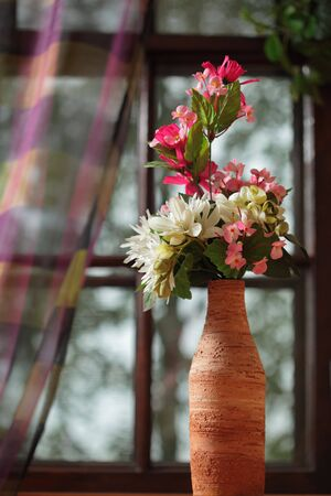 flower in the vase photo