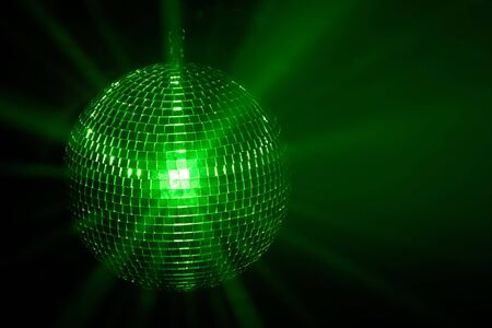 Green disco ball photo