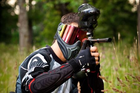 shooter: paintball shooter in the field