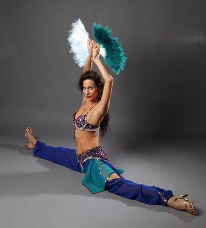 artistic girl do the splits photo