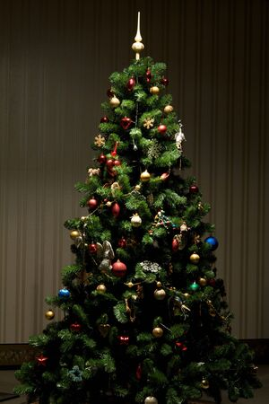 multitude: Christmas-tree with multitude of decorations