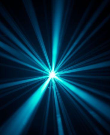 futuristic effect: blue disco lights background