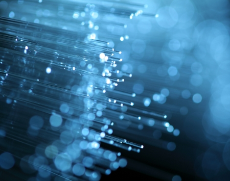 abstract view of fiber optics