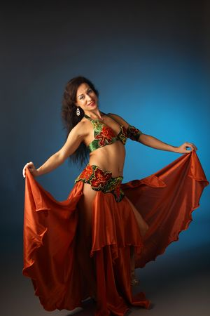 belly dancing: belly dancer Stock Photo