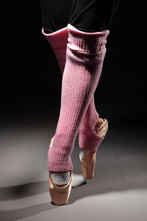 pointes: foots of ballet dancer