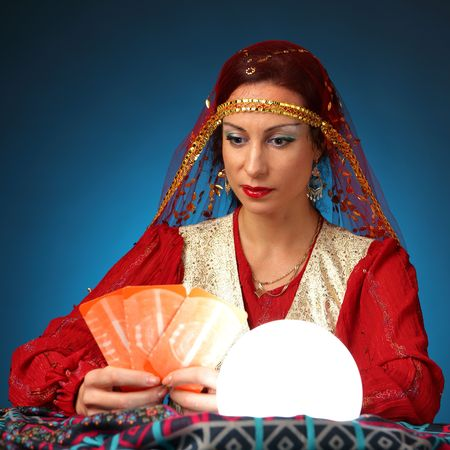 fortune-teller telling fortunes by cards