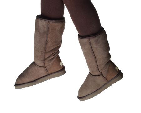 winter boots isolated photo
