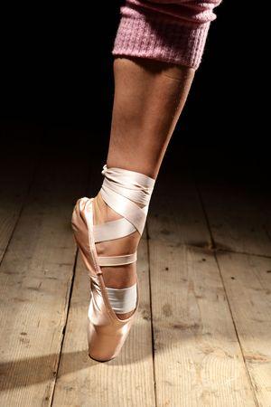 foot of ballet dancer on the floor Stock Photo - 6346488