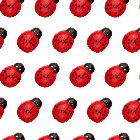 ladyfly: ladybug seamless background