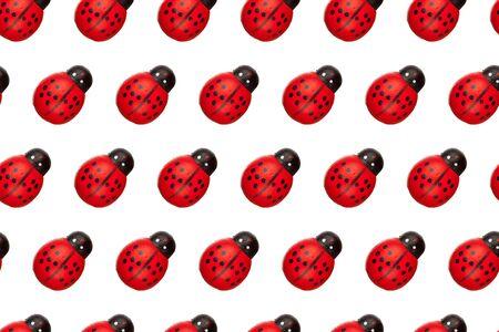 ladyfly: ladybugs seamless background