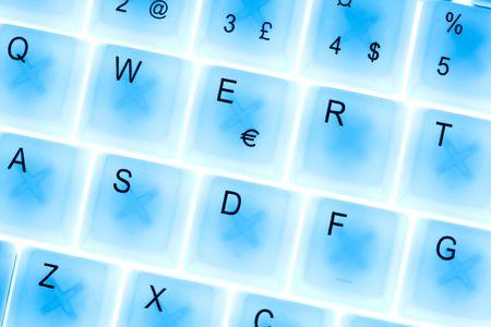 shiny laptop keyboard photo