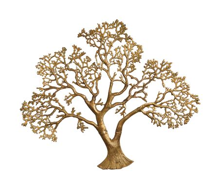 gold tree isolated