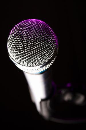 microphone closeup photo
