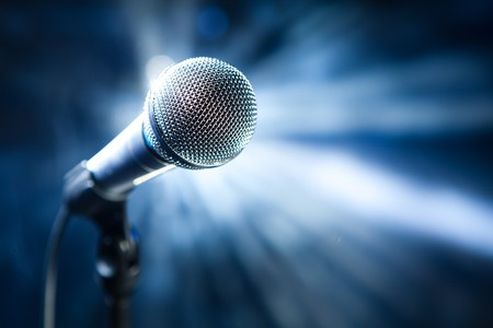 microphone on stage photo