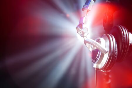 auriculares dj: auriculares de glamour