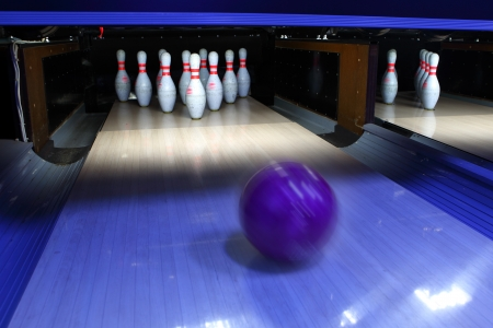 bowling: bowling ball and pins