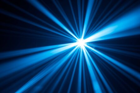laser lights: blue disco lights