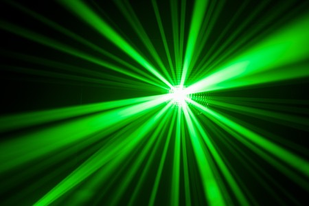 green light: green laser light reflection