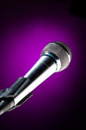 microphone against the purple background photo