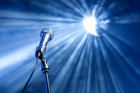 volume glow light: microphone on stage