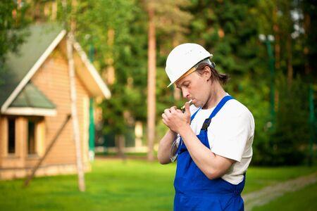 smoking builder photo