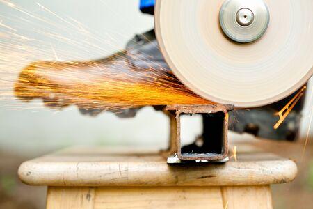 cutoff: cutoff wheel in action