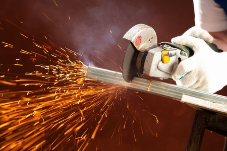 cutting metal Stock Photo - 7352774