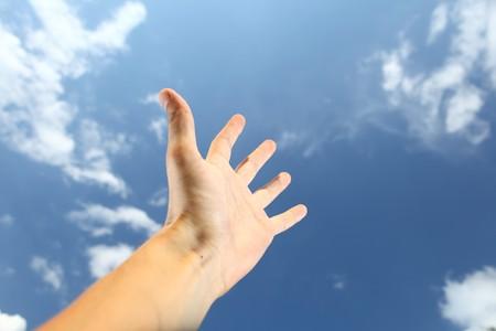 hand reach for the sky photo